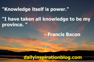 Francis bacon quotes on knowledge