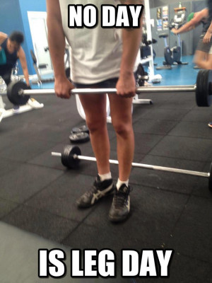 Don't need chicken legs like these guys? Well stop skipping leg day!