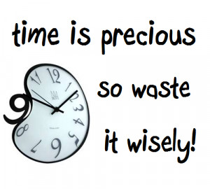 Time Is Precious So Waste It Wisely