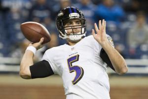 Joe Flacco The Baltimore Ravens Warms Prior