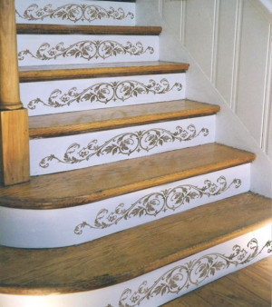 Reusable Stencil Westbury Stair Riser - Classical decor - DIY home ...