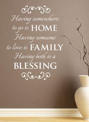 Home Family Both Blessing Wall Vinyl