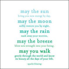 Native American Indian blessing