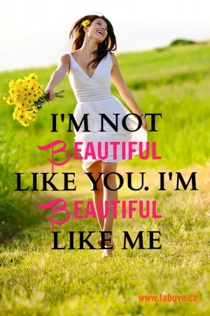 Love this!!!! Embrace your own #beauty. #quote
