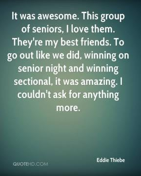 senior night and winning sectional it was amazing I couldn 39 t ask ...