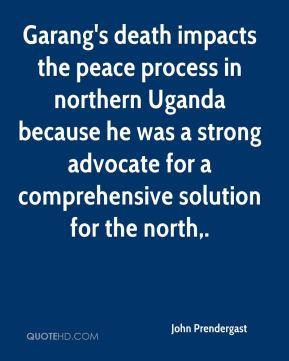 John Prendergast - Garang's death impacts the peace process in ...