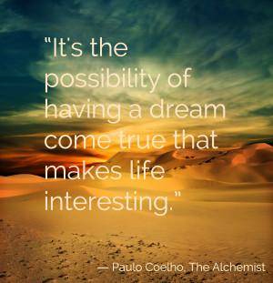 The Alchemist Personal Legend Quotes
