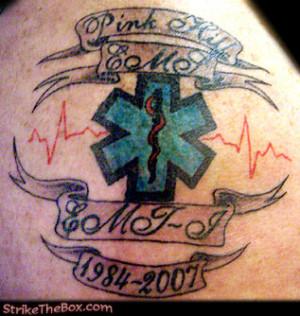 Ems Star Of Life Tattoos Tattoopins 467 Paramedic Star