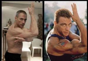 Jean-Claude Van Damme heute und vor 25 Jahren