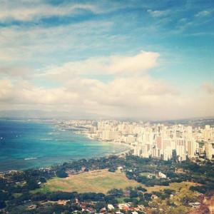 gorgeous view of Waikiki that Ashley snapped!