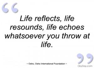 life reflects