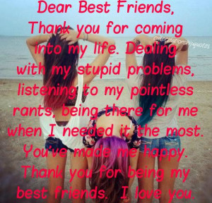 ... You've made me happy. Thank you for being my best friend. I love you #