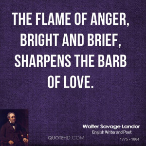 Walter Savage Landor Anger Quotes