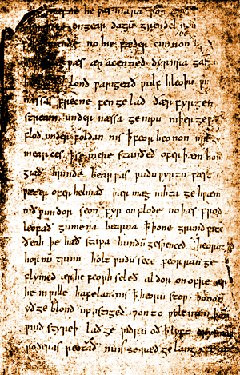 The only manuscript of Beowulf