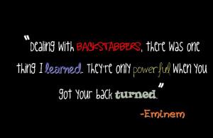 Eminem Quote photo backstabber.jpg