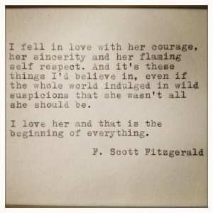 Scott Fitzgerald love quote