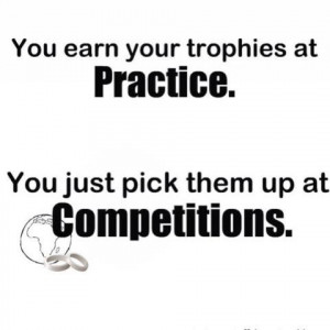 Trophies from practice