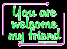 You Are Welcome My Friend quote