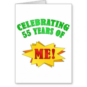 Funny Attitude 55th Birthday Gifts Greeting Card
