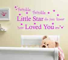 Twinkle Twinkle Baby Nursery Quote Wall Art Sticker, Decal, Graphic ...