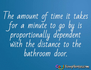 The amount of time it takes for a minute to go by is proportionally ...