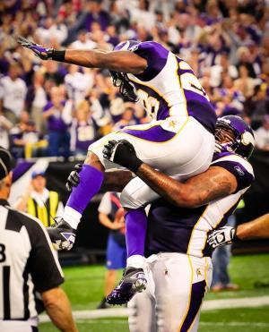 Adrian Peterson's curriculum vitae arrived amid the post-game flurry ...