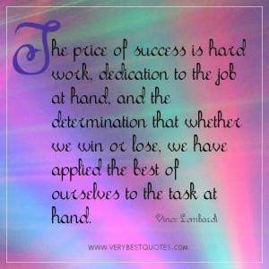 Hard Work Quotes Success Quote