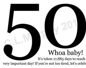 50th Birthday, Turning 50 , Happy Birthday, Friend Birthday, Milestone ...