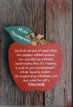 Poem for teacher. So sweet. As a catholic school teacher, I would ...