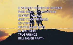 Friendship Quotes For New Friends ~ Quotes On Friendship And Love New ...
