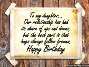 Sweet birthday greeting card message for daughter 640x480 Birthday ...