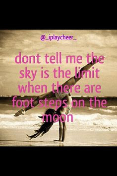 ... motivation quote beach tumbling cheer dance gymnastics front walkover