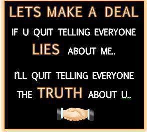 About lies and truth...