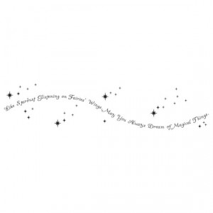 Like Stardust Glistening on Fairies Wings - Vinyl Wall Decal Quote ...