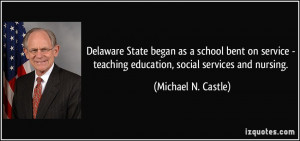 ... service - teaching education, social services and nursing. - Michael N