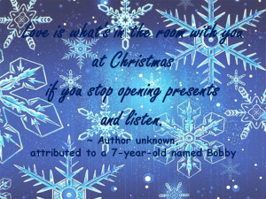Christmas quote snowflakes graphic