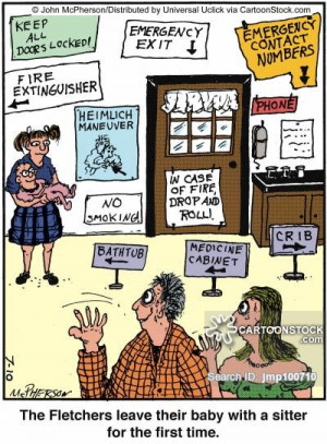 babysitter cartoons, babysitter cartoon, funny, babysitter picture ...