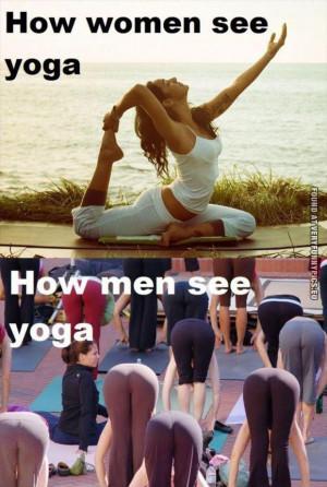 Yoga expectations – Women VS Men