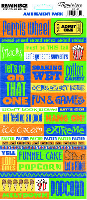 Product Index > Theme Park Quotes Cardstock Scrapbooking Stickers