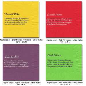 funny napkin quotations these napkins lighten the mood of your event ...