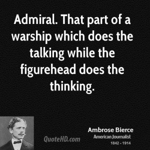 Admiral. That part of a warship which does the talking while the ...