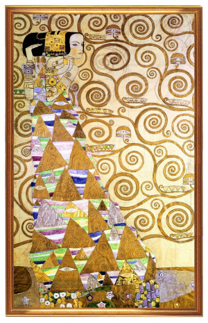 Gustav Klimt Seidentuch Die
