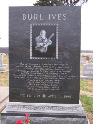 Burl Ives Grave Monument