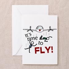 Time To Fly' Greeting Card for