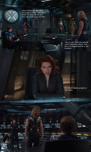 Thor And The Avengers Discuss The Dangers Of Loki