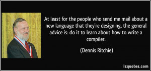 More Dennis Ritchie Quotes