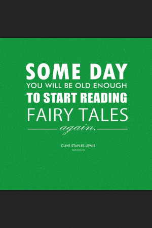 Cute! Fairy tales Quote!