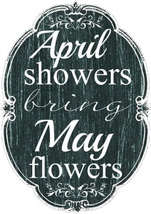 April Showers Chalkboard Printable