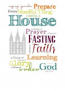 ... house of prayer, a house of fasting...