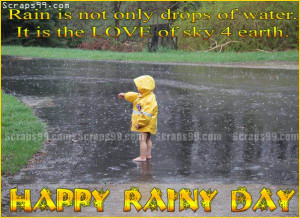 Images Rainy day cute wishes form cute baby in Cute rainy day quotes